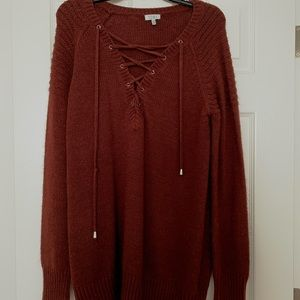 Tobi Maroon Sweater Dress